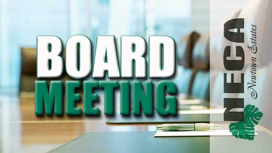 December 6, 2017 – NECA Board of Directors Meeting